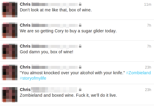Chris on Wine in a Box
