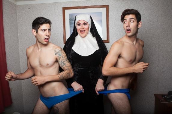 The Zakar Twins... with a nun?