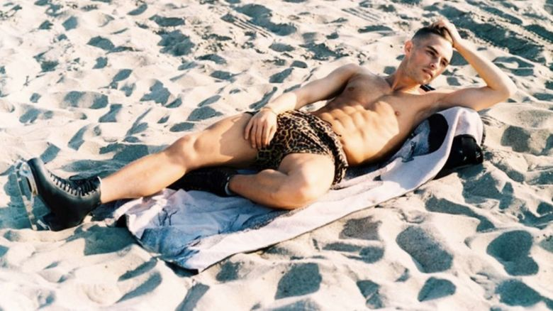 Adam Rippon on the Beach